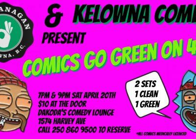 ComicsGoGreen420Show!