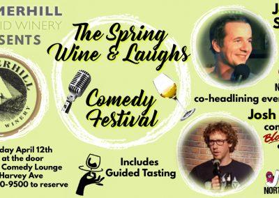 SpringWine&LaughsJosh&Jordan7pmFridayApril12
