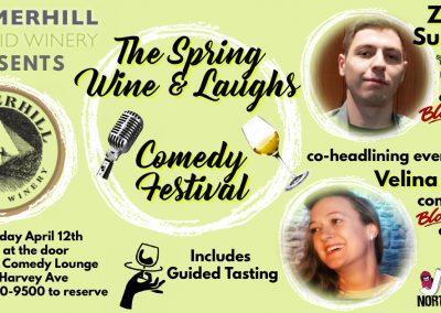 SpringWine&LaughsZawer&Velina9pmApril12th