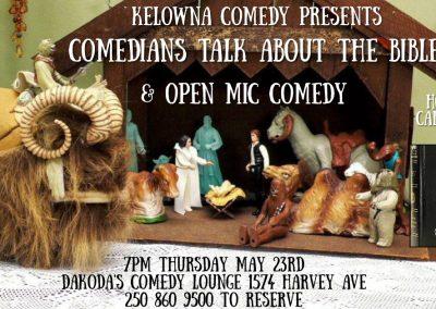 ComediansTalkAboutTheBibleandOpenMic7pmThursdayMay23rd