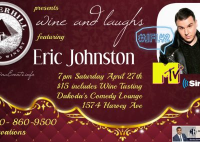 Wine&LaughswithEricJohnston7pmSatApril27th