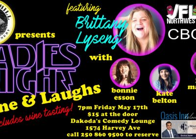 LadiesNightwithBrittanyLyseng7pmFridayMay17th