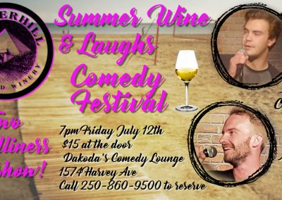 SummerWine&LaughsAngus&Taz7pmFridayJuly12th