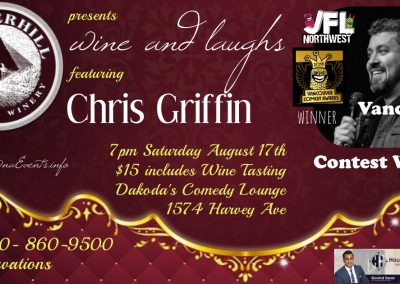 Wine&LaughswithChrisGriffin7pmSatAug17th