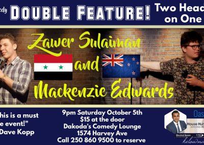 Zawer&Mackenzie9pmSaturdayOctober5th