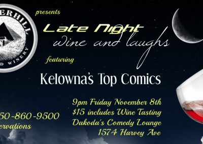 LateNightWine&Laughs9pmFridayNovember8th