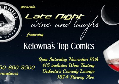 LateNightWine&Laughs9pmSaturdayNovember16th