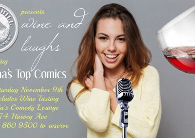 Wine&Laughs7pmNovember9th