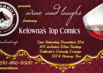 Wine&Laughs7pmSaturdayDecember21st
