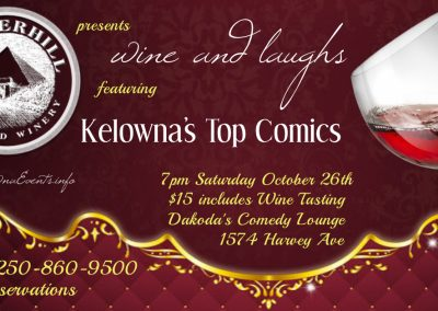 Wine&Laughs7pmSaturdayOctober26th