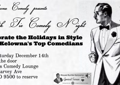 BlackTieComedyNight9pmSaturdayDecember14th